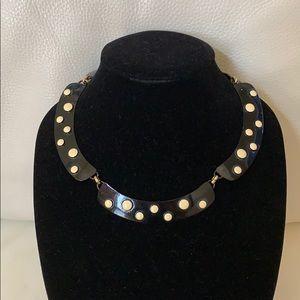 Woman's | Necklace | Black | White | Gold | Metal